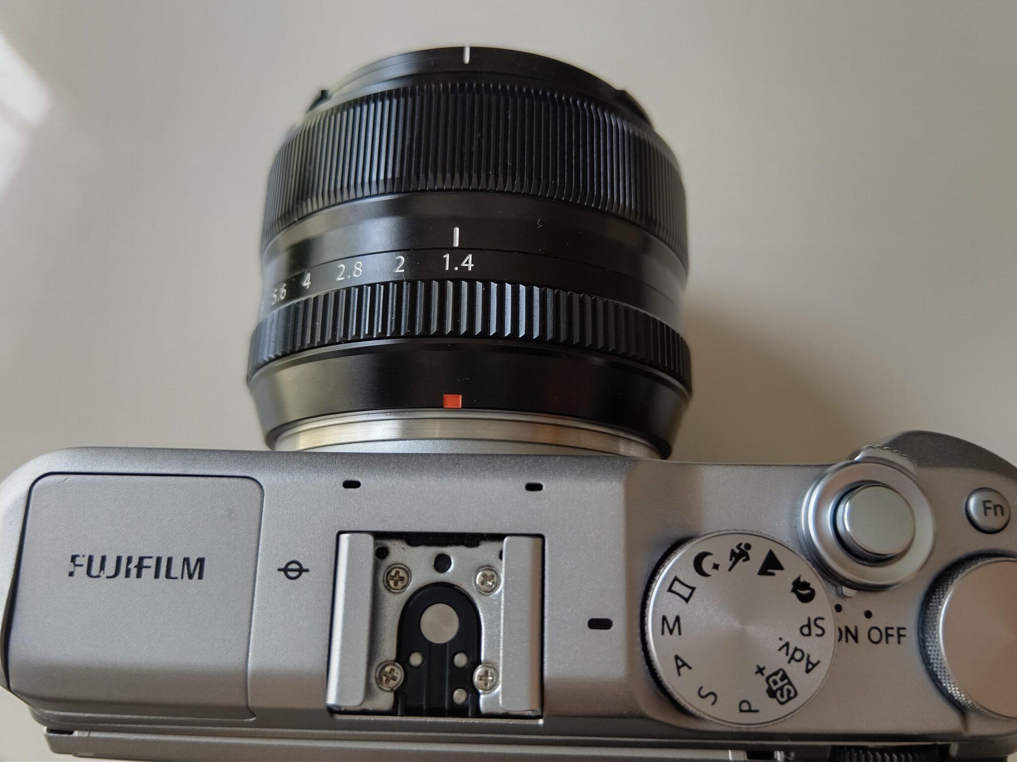 FUJIFILM X-A5に装着したXF35mmF1.4R